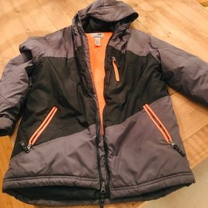Champion Boys Winter Jacket Size12-14 Grey/Orange